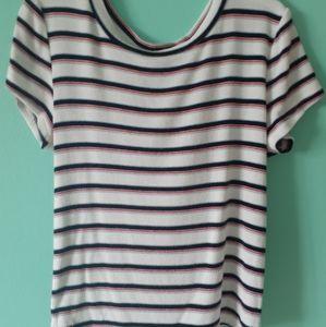 Teens short sleeve striped top